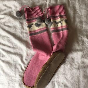 Victoria Secret PINK Knee Socks Wool Slippers